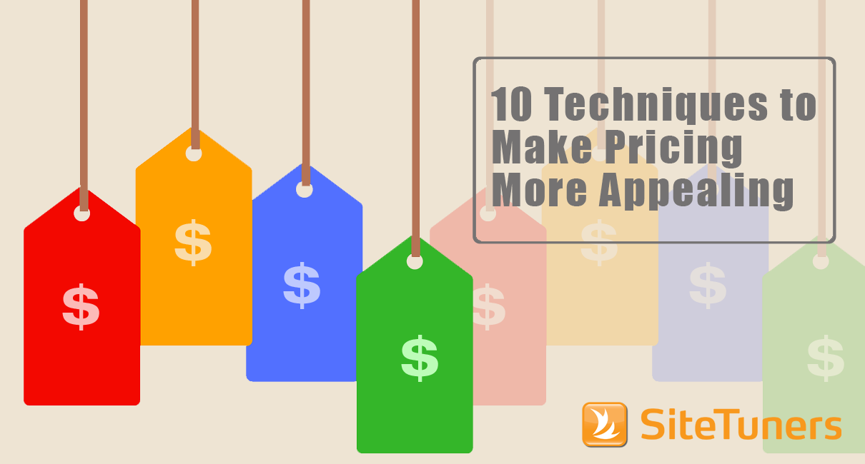 10 techniques to make pricing appealing