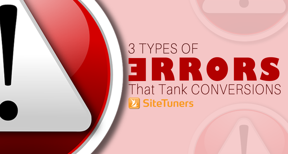3 types of error that tank conversions