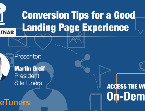 Free Webinar: Conversion Tips for a Good Landing Page Experience