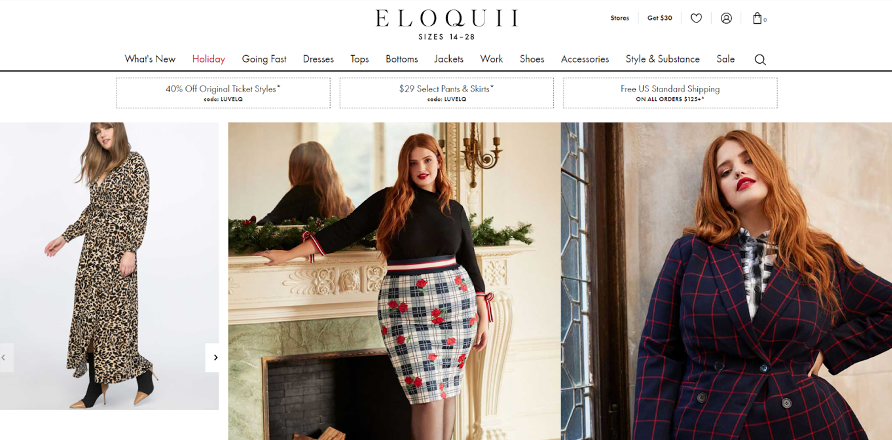 Search Intent on Eloquii's Website