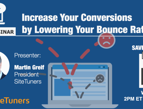 Free Webinar: Increase Your Conversions by Lowering Your Bounce Rate
