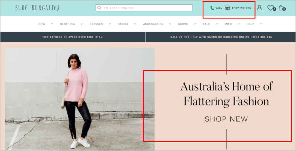 image of Blue Bungalow's new homepage