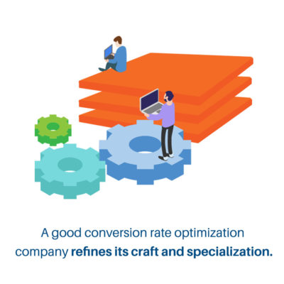 good conversion rate optimization companies work on specialization - graphics